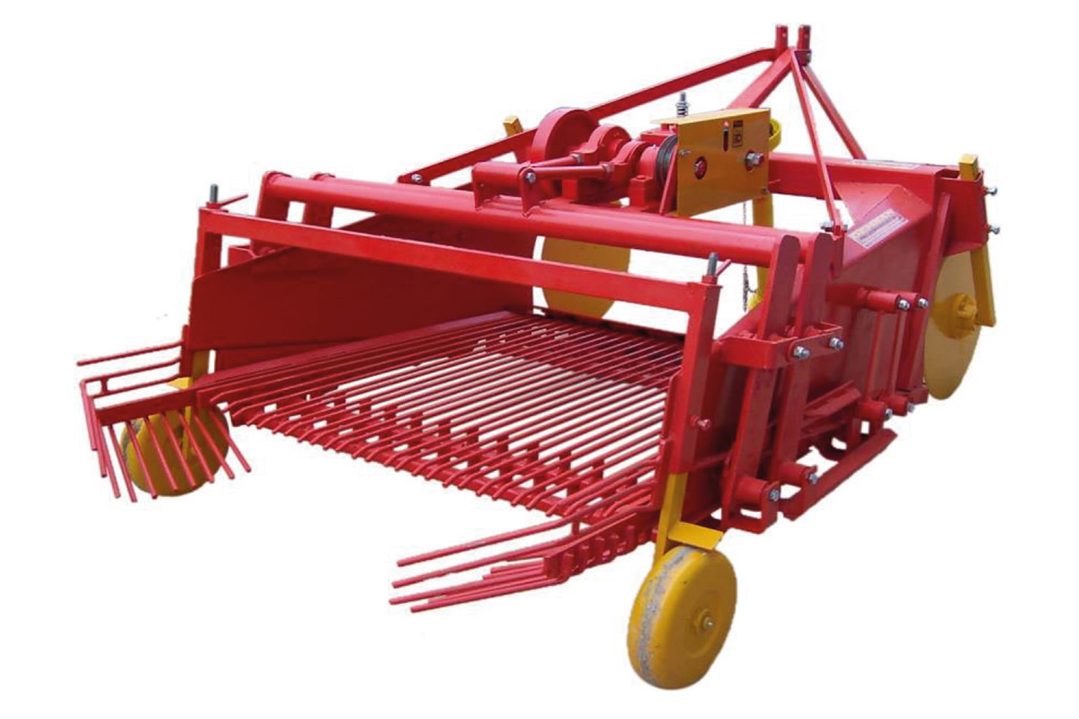 2 rows Potato Harvester Machine with complete sieve system